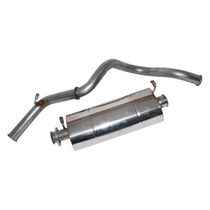 Defender 90 Stainless Steel Exhaust System Double SS - DA4234