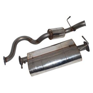 Defender 90 Stainless Steel Exhaust System Double SS - DA4235