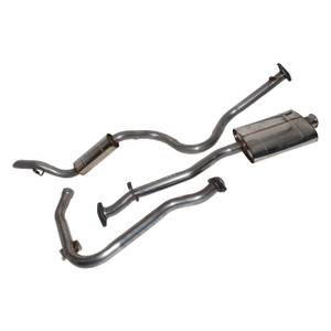 Defender 110 Stainless Steel Exhaust System Double SS - DA4228