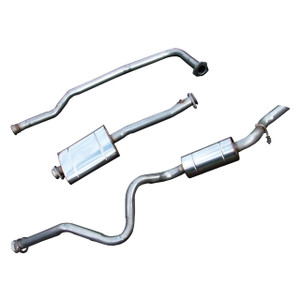 Defender 110 Stainless Steel Exhaust System Double SS - DA4229
