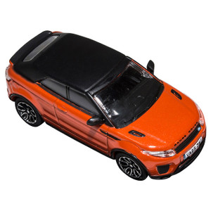 Range Rover Evoque Die-Cast 1:76 Scale Model Toy Convertible Phoenix Orange - DA1320