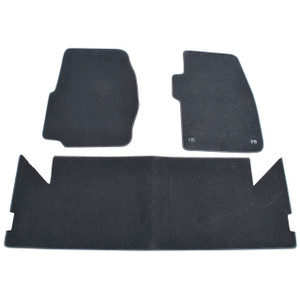 Discovery 1 Front/Rear Carpet Set with Rubber Backing Black - DA4023BLACK