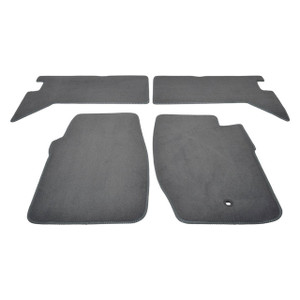 Discovery 1 Front/Rear Carpet Set with Rubber Backing Grey - DA4023GREY