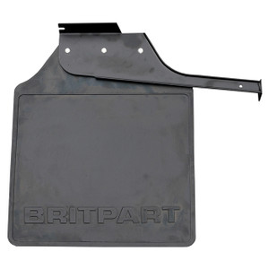 Defender 110/130 Rear Left Hand Mud Flap Black Logo - CAT500350PMA