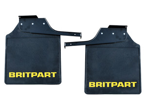 Defender 110/130 Crew Cab Rear Mudflap Pair with Yellow Logo - DA4534