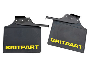 Defender 110/130 Rear Wide Mudflap Pair with Yellow Logo - DA4536