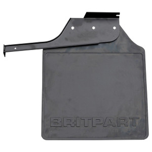 Defender 110/130 Rear Right Hand Mud Flap Black Logo - LR055330