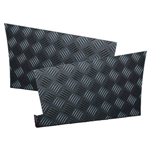 Defender 110 Chequer Plate Rear Wing Protector Pair Satin Black - DA4071B