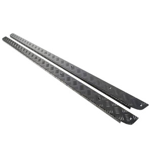 Defender 110 CSW 3mm Chequer Plate Side Sill Pair Black Mammouth - SLKIT01-CSW/B