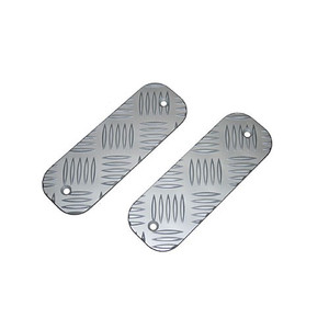 Defender 3mm Premium Front Bumper Tread Plates Silver Anodised Mammouth - BTS-KIT/A