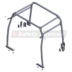 Defender 110 Internal Half Roll Cage Safety Devices - RBL0117SSS