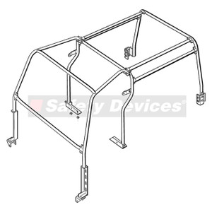 Defender 110 Internal Roll Cage Safety Devices - RBL1487SSS