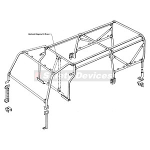 Defender 110 Internal/External Roll Cage Safety Devices - RBL1837SSS