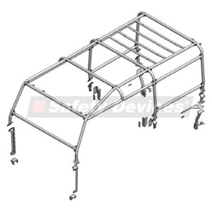 Defender 110 Full External Roll Cage Safety Devices - RBL2427SSS