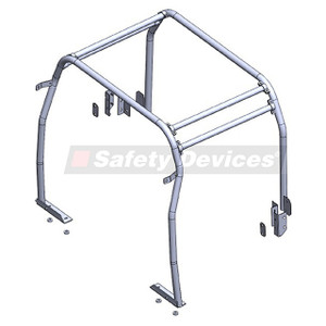 Defender 110 Internal Half Roll Cage Safety Devices - RBL2557SSS