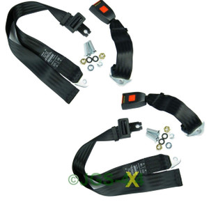 Universal Lap Belt Rear Centre Seatbelt Static Safety Belt SECURON 210 x2