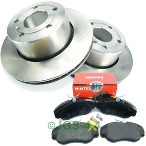Land Rover Discovery 2 Front Brake Discs & MINTEX Brake Pad Kit