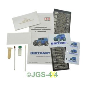 Land Rover Car Vehicle Security Window Marking Kit ISR CODECHECK - DA8533