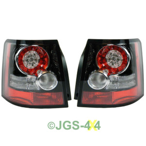Land Rover Range Rover Sport Rear LED Tail Light Lamps OEM Upgrade Black Inserts