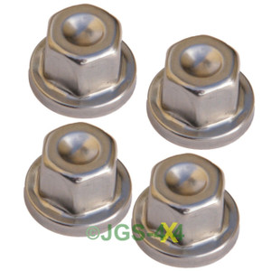 Land Rover Range Rover Classic & P38 Stainless Steel Locking Wheel Nut Cover x4