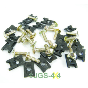 Land Rover Series Floor Pan Captive Spire Nuts and Screws x10 Bearmach Parts
