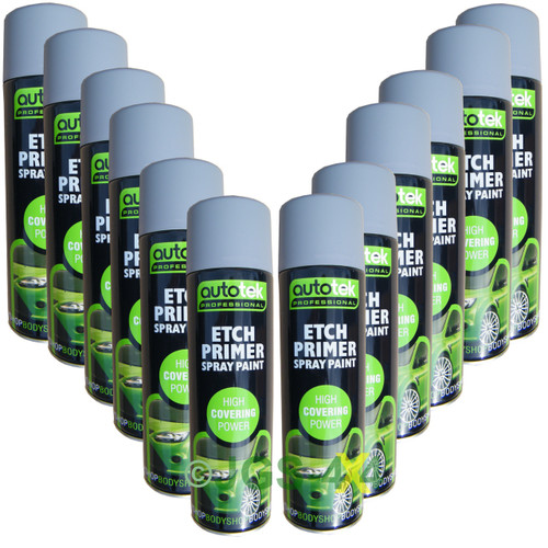 Etch Primer Professional Acid Grey Primer 500ml AUTOTEK x 12 CANS