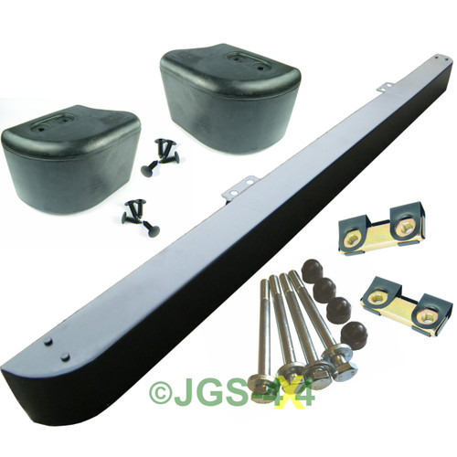 Defender Front Bumper & Rubber End Caps & Stainless Steel Fitting Kit LR062058