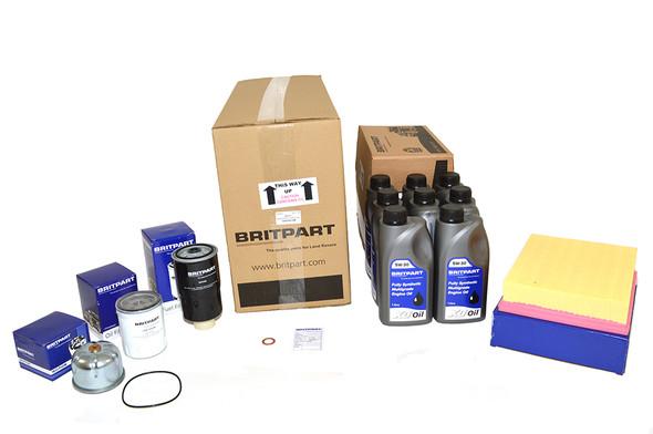 Land Rover Defender Td5 Engine Service Filter Kit With Engine Oil - DA6004COM