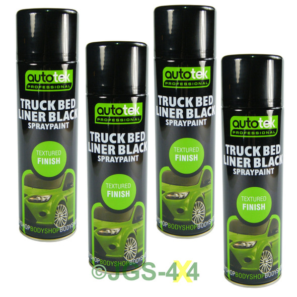 Truck Bed Liner Black Aerosol 500ml AUTOTEK x 4 CANS