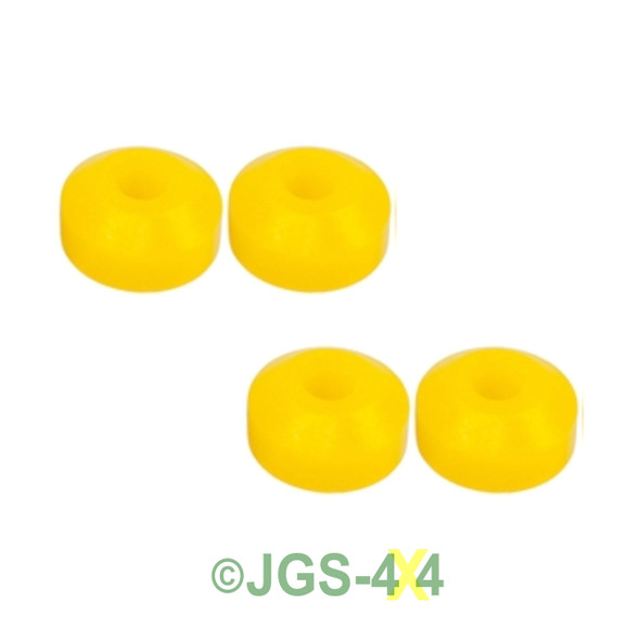 Land Rover Discovery 1 Rear Shock Absorber Lower Polyurethane Bush Kit - RNF100090YELLOW