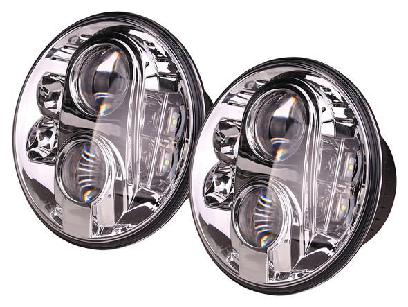 Land Rover Defender LED LYNX Eye Headlamp Headlight Upgrade Pair RHD - DA6282