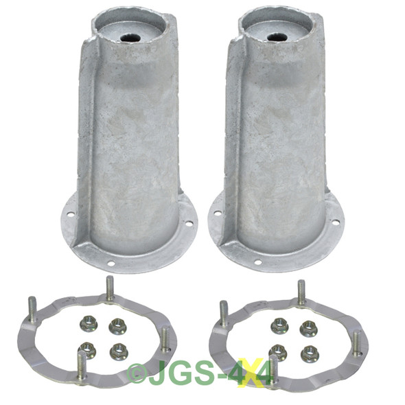 Land Rover Discovery 1 Galvanised Front Shock Absorber Turrets & Securing Rings