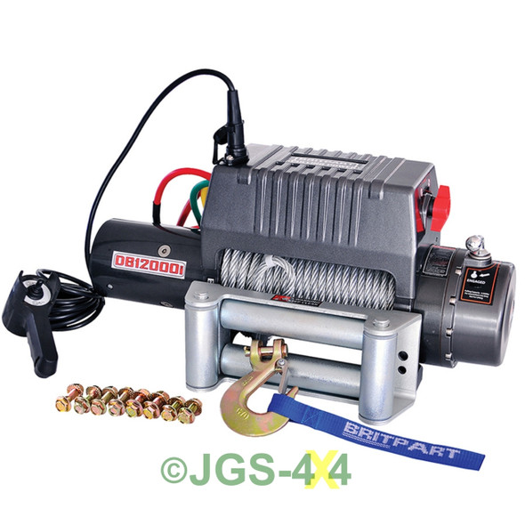 12V Pulling Power Electric Recovery Winch 12,000lbs - DB12000I