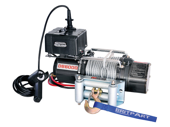 12V Pulling Power Electric Recovery Winch 6,000lbs - DB6000