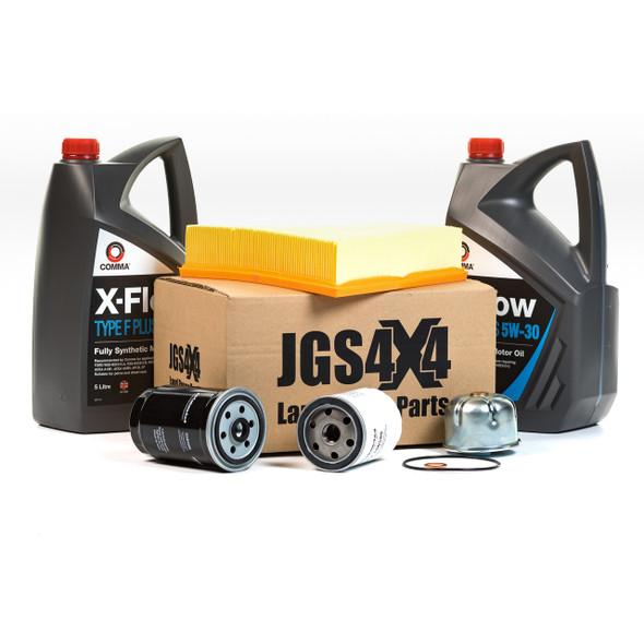 JGS4x4 | Land Rover Defender Td5 Engine Service Filter Kit & X-Flow Fully Synthetic Engine Oil - BK0014COM