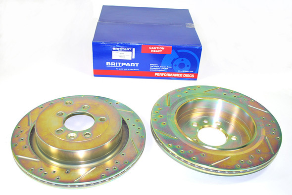 Land Rover Discovery 4 L319 Performance Drilled and Grooved Brake Disc & EBC Brake Pad Kit -
