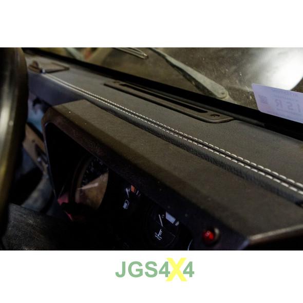 Land Rover Defender Dashboard Trim Grained Black Vinyl With Black Stitching