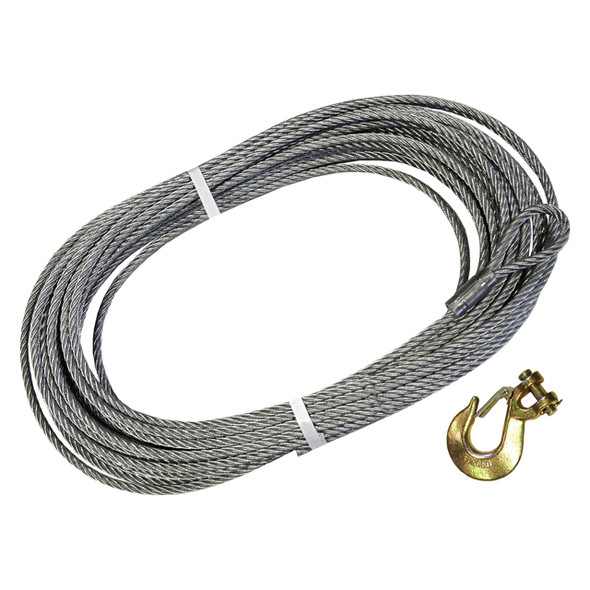 Replacement Galvanised Winch Cable with Hook 30.5 Metre - DB1328