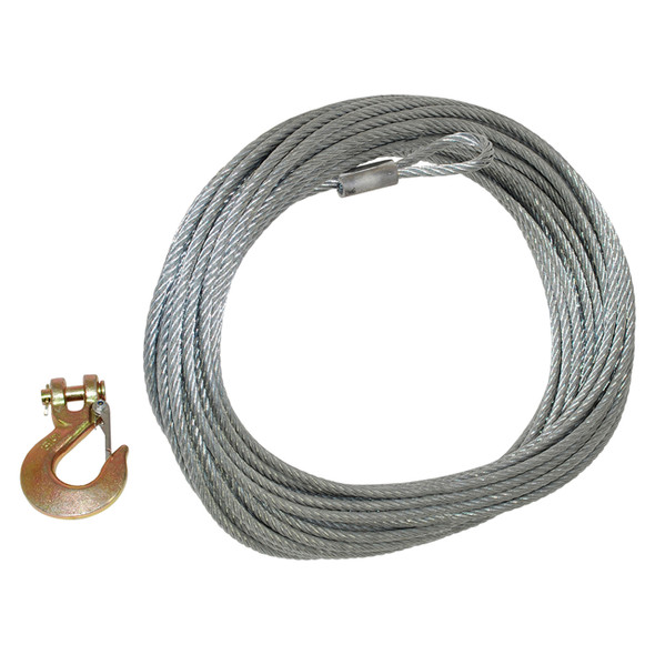 Replacement Galvanised Winch Cable with Hook 26 Metre - DB1339
