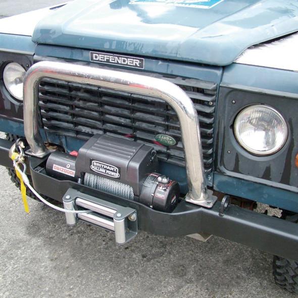 Defender Heavy Duty Steel Winch Bumper Black - DA5620