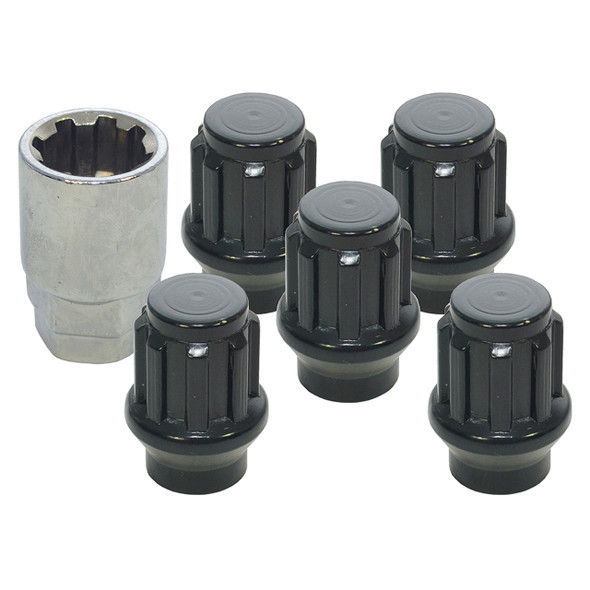 Defender & Discovery 1 & Range Rover Classic Wheel Nut and Key Set of 5 Maxxtrac - DA2475