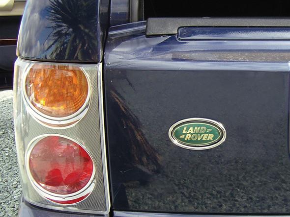 JGS4x4   Land Rover Range Rover L322 Chrome Rear Oval Badge Surround - DA1072