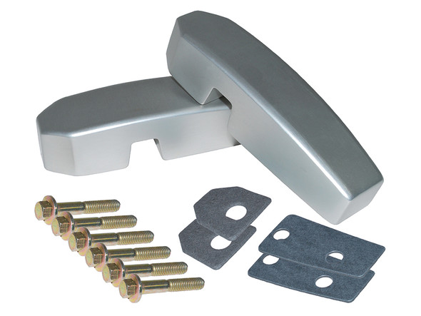 JGS4x4 | Defender Billet Aluminium Windscreen Brackets  Silver - DA1142