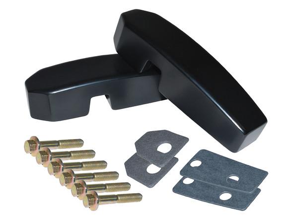 JGS4x4 | Defender Billet Aluminium Windscreen Brackets  Black - DA1142B