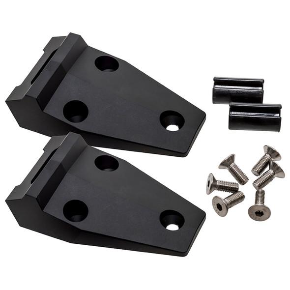 Defender Billet Aluminium Bonnet Hinge Kit Anodised Black - DA1152B