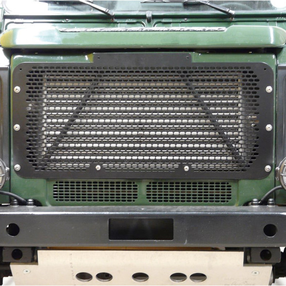 Defender Front Stainless Steel Radiator Grille Black Powder Coated - DA2356B