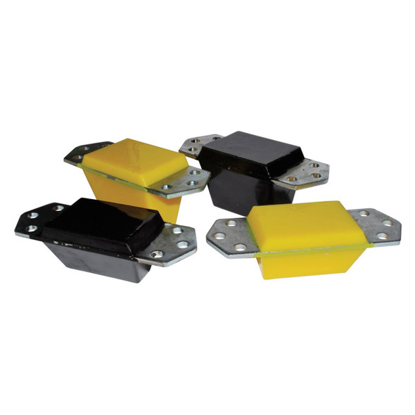 Defender & Discovery 1 Standard Front Bump Stop 56mm Yellow  - ANR4188PY-YELLOW