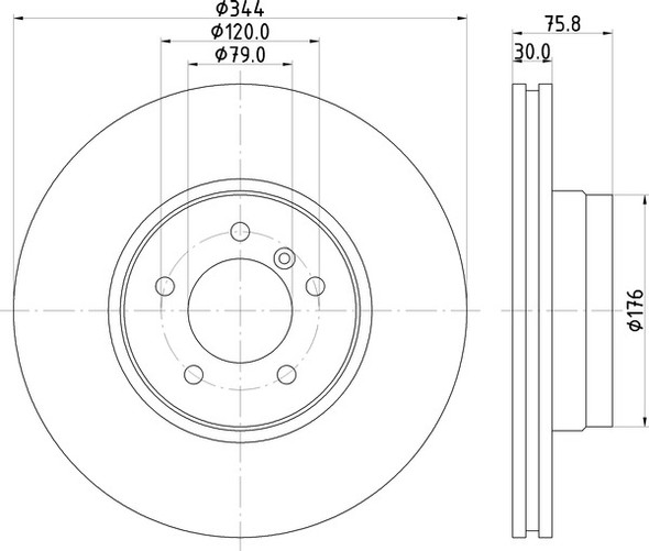 Land Rover Range Rover L322 2002-2006 Front Vented Brake Discs - Exact OEM Specification - SDB000201G