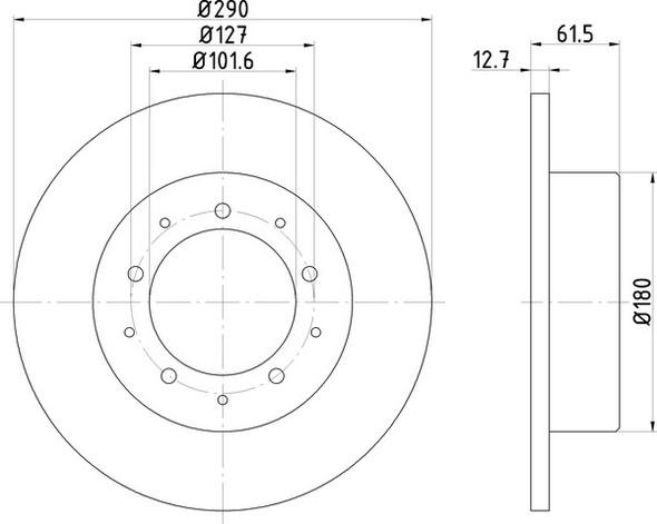 Land Rover Defender 90 Rear Solid Brake Discs - Exact OEM Specification - LR017953G