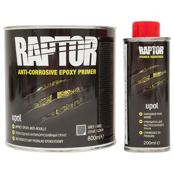 Anti-Corrosive Epoxy Primer Kit 1 Litre Raptor - DA6615